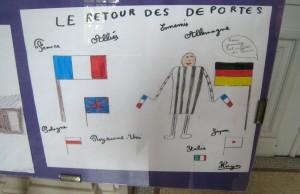 L'exposition agrémentée de dessins scolaires