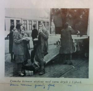 Evacuation de Françaises de Ravensbrück en Suéde. © Fonds Germaine Tillion, Musée de la Résistance de Besançon.